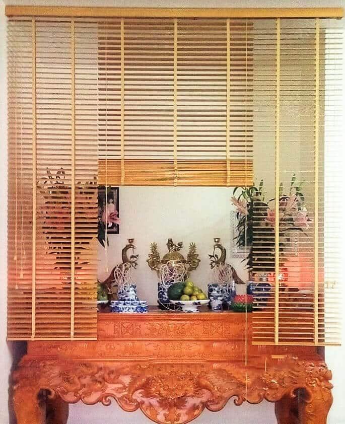 Rèm gỗ cho bàn thờ