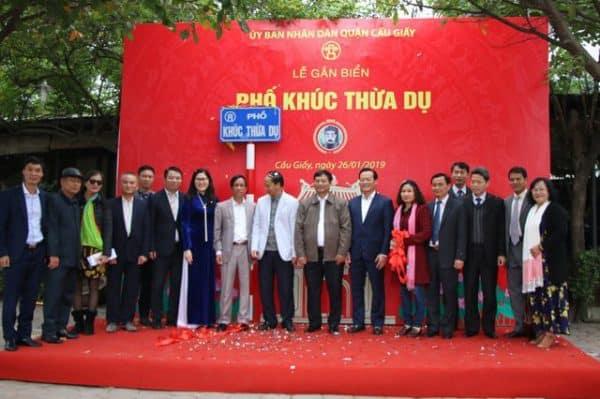 Lễ gắn biển tên phố Khúc Thừa Dụ, quận Cầu Giấy
