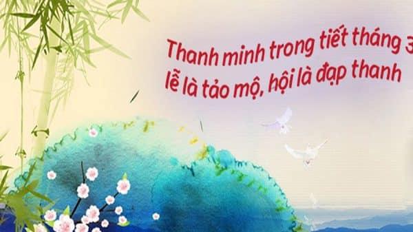 Lễ tảo mộ dịp tiết Thanh Minh
